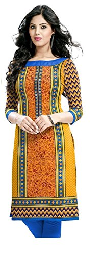 Market Magic World Women\'s Cotton Orange Kurta (Mmw_Kurtis_5109_Free Size)
