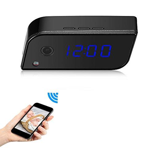 OMOUP-720P-Cmara-WiFi-Espia-Oculta-Reloj-Cmara-de-Seguridad-y-Reloj-Alarma-con-la-deteccin-del-movimiento-y-Visin-Nocturna