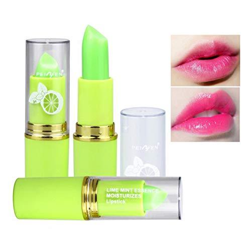 Farben Moisture Rich Lipstick (Allbestaye Lime Mint Jelly Lippenstift Farbe Ändern Temperatur Wasserfest Farbwechsel Balsam Lipgloss Lippenbalsam)