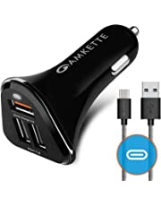 Amkette Power Pro 3 Port USB Car Charger with Quick Charge