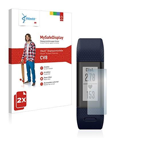 2X Bildschirmschutzfolie CV8 von 3M kompatibel mit Garmin Vivosmart HR+ Schutzfolie Folie