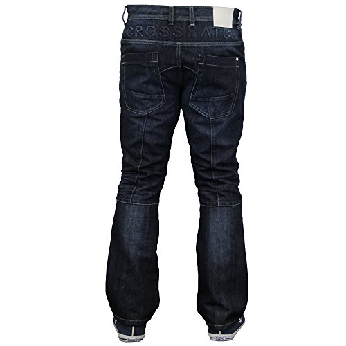 Hommes Pantalon Cargo Combat Jean By Crosshatch Délavé foncé - LOPES