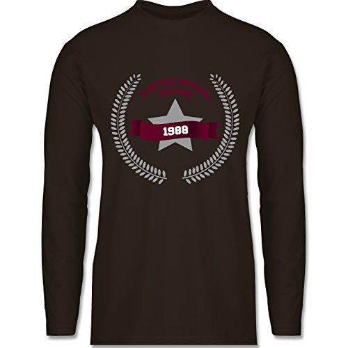 Shirtracer Geburtstag - 1988 Limited Special Edition - Herren Langarmshirt Braun