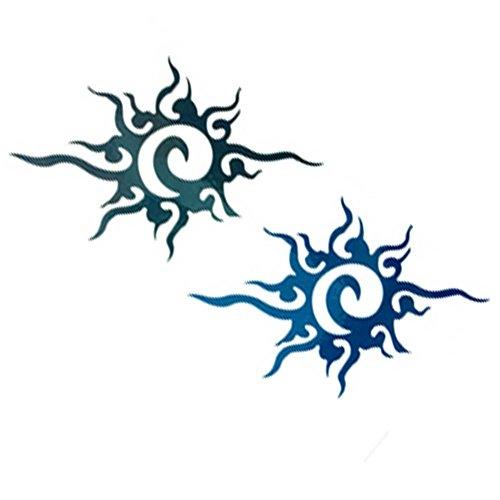 10 Stück Kreative Sun Muster Temporary Wasserdichte Körper-Arm-Tattoo-Aufkleber