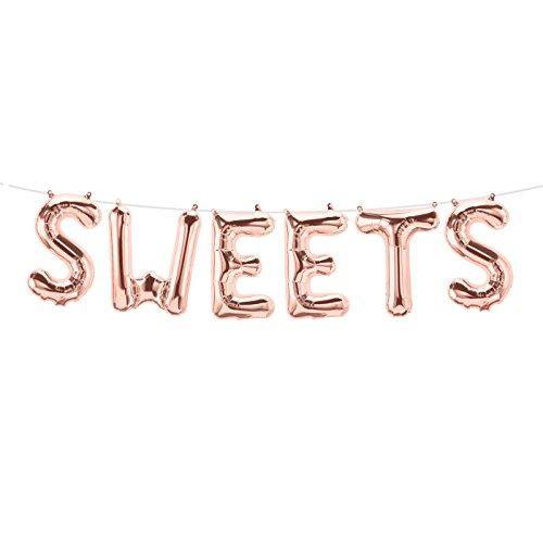 "Buchstabenballon-Set ""SWEETS"""