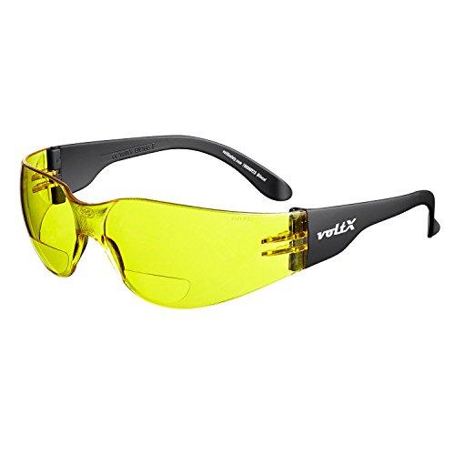 voltX 'Grafter' BIFOKALE (GELB +1.5 Dioptrie) Leichtgewichts Industrie Lesen Schutzbrille, CE EN166F Zertifiziert/Sportbrille für Radler - Safety Reading Glasses