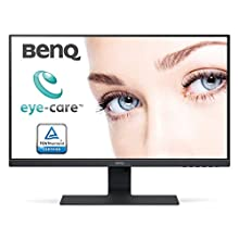 BenQ GW2780 27 Inch 1080p Eye Care LED IPS Monitor, Anti-Glare, HDMI, B.I. Sensor for Home Office - Black