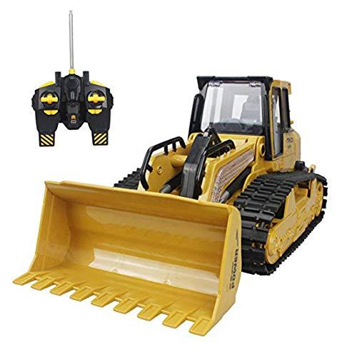 JHSHENGSHI Toy Bagger 5 Channel Volle Funktion Crawler Remote Control Bulldozer RC Bagger-Baufahrzeug Front Loader Dump Truck -