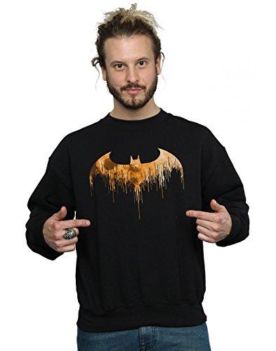 (DC Comics Herren Batman Arkham Knight Halloween Moon Logo Fill Sweatshirt Medium Schwarz)