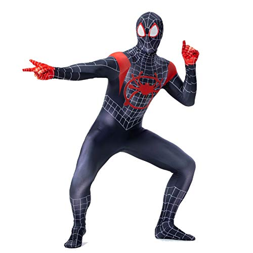 Spiderman Zentai Overall für Erwachsene Spandex Dress Up Comics Halloween Tier Cosplay Outfit Kostüm Body XS-XXL,S