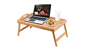 Callas Wooden Laptop Table Bed Study Table Writing Table Bed Table Breakfast Serving Tray for Sofa Bed with Foldable Legs