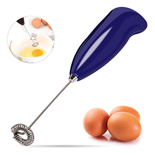 YASSUNHand-held Mini Foamer, Coffee Blender, Handheld Milk Frother and Drink Mixer Maker For Coffee, Latte, Cappuccino,Milk Foaming, StirringEeggs, etc.(Blue)