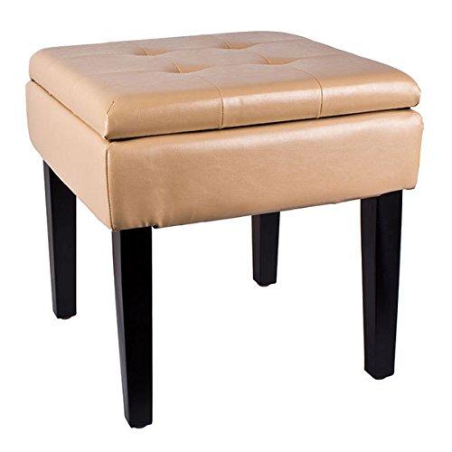 Hochwertige SitztruheSitzhocker mit Stauraum beige