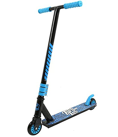 TBF Stunt Scooter XV Pro Street Tricks Kick/Push 360 Spin Model (Boarding Co (Black / Blue))