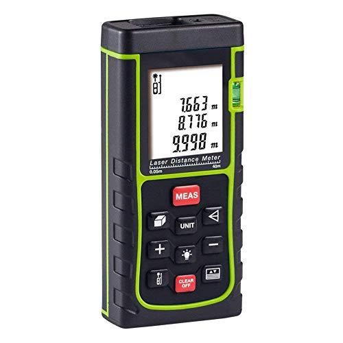 Signstek Mini Digital Laser Distanzmesser Distanzmessgerät Entfernungsmessgerät Laser Entfernungsmesser 40m für Volumen/Fläche/Pythagoras Messungen
