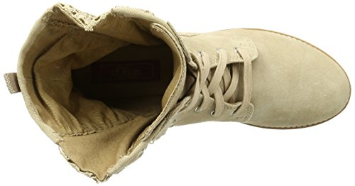 s.Oliver Damen 25354 Combat Boots Beige (NUDE 250)