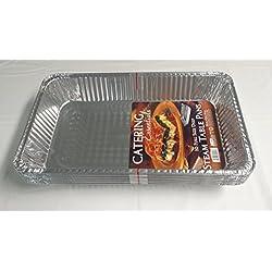 Extra Grande desechables Lámina De Aluminio Para Hornear/Asar bandeja de pan/(Gastronorm) Tamaño Completo Deep, 527x 324x 81–Pack de 10