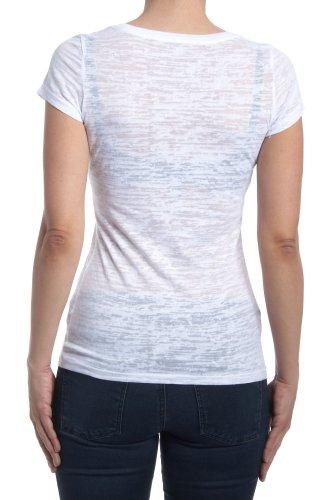 Dorothy Blue Damen T-Shirt 'Rock & Roll' Weiß