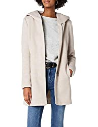ONLY Damen onlSEDONA Light Coat OTW NOOS Mantel, Braun (Etherea Detail:Melange), 36 (Herstellergröße: S)
