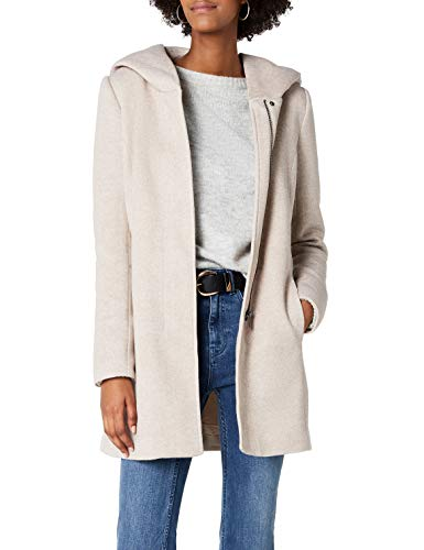 ONLY Damen onlSEDONA Light Coat OTW NOOS Mantel, Braun (Etherea Detail:Melange), 40 (Herstellergröße: L) -