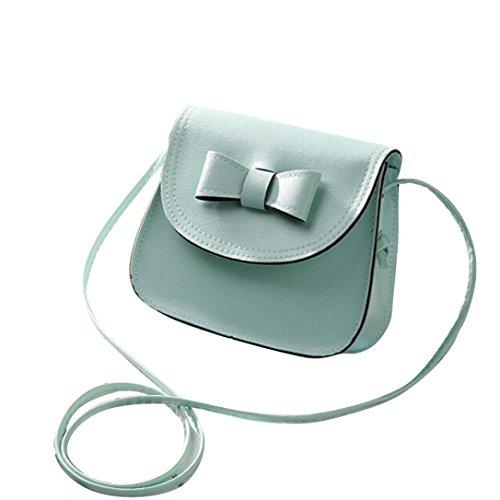 Transer  Women Shoulder Bag Popular Girls Hand Bag Ladies PU Leather Handbag, Damen Schultertasche Mehrfarbig grün 17cm(L)*16(H)*7cm(W), grau (Mehrfarbig) - CQQ60901349 mintgrün