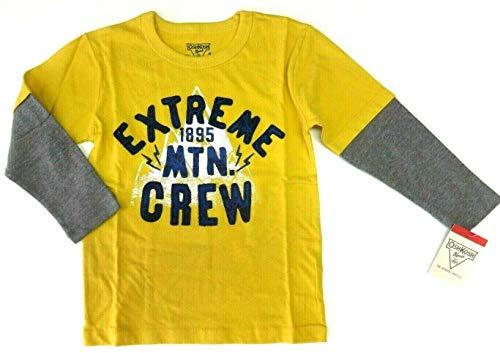 OshKosh B'Gosh 98/104 Langarmshirt für Jungen Boy USA Size 4 Sweatshirt gelb Spruch Oshkosh Usa-sweatshirt