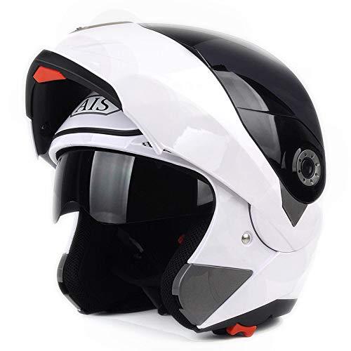 Motorrad Erwachsenen Integralhelm Schutzhelm Integralhelm Integralhelm mit Bluetooth männlichen Helm,J-L=57~58cm ()