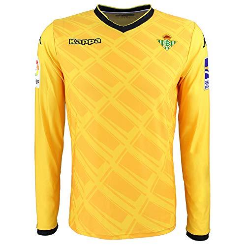 1ª equipación oficial de portero - Real Betis Balompié 2018/2019 - Kappa Official GK Jersey 1 - Amarilla/Negra - 2XL