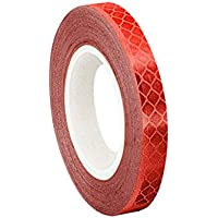 tapecase 0,625-5-3432Rojo Micro Prismatic sheeting cinta reflectante convertir de 3M 3432, 0,625x 5YD.