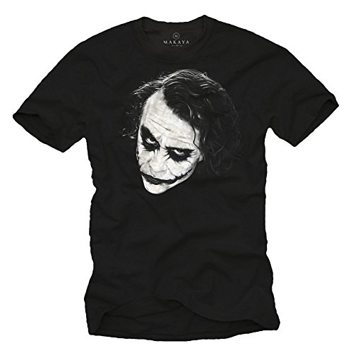 MAKAYA Camiseta Joker Hombre - WHY SO SERIOUS - Blanca XXL