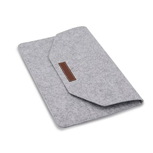 HubLines® - Premium- Design- Laptop-Tasche, Sleeve, Filz, für Displaygrößen bis 15 Zoll (39,10 cm), HellGrau - Case/Tasche/Hülle für alle 15 Zoll Tablets, Laptops und Netbooks