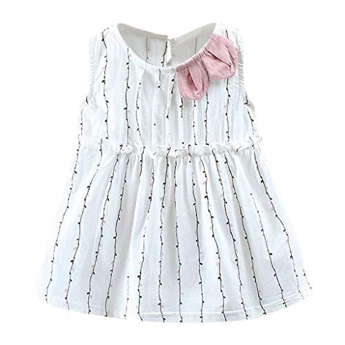 n Kleider, Bekleidung Kleinkind Kind Outfits Kleidung Blumendruck Party Pageant Princess Dress 0-24M ()