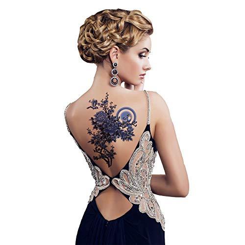 Mrkal tatuaggio temporaneo sexy 3d body art tatuaggi temporanei adesivi impermeabili colorati fiori pittura disegno adesivo body art tools 21x14cm