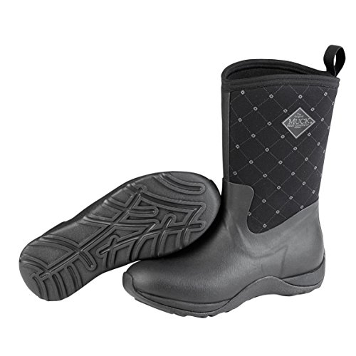 Muck Boot Arctic Weekend Prints-quilted Print - Botas de lluvia Mujer, color  negro 87ccc443d526