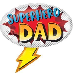 Amscan International Anagram 3932301 - Globo de aluminio con forma de superhéroe para el día del padre