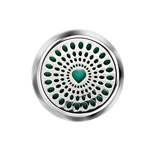 VIMOER Auto diffusore di Oli Essenziali Naturali in Acciaio Inox, Deodorante per Auto Clip per aromaterapia fragranza Medaglione per Auto Air Vent