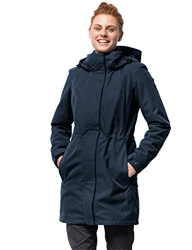 Jack Wolfskin Damen 3-in-1 Mantel Ottawa Coat Jacke, Midnight Blue HW17, XL