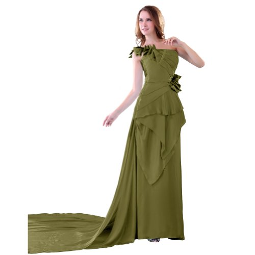 Sunvary da una linea Uno Chiffon spalla, per abiti da sera Green