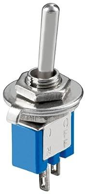 Kippschalter Subminiatur, EIN-AUS, 2 Pins, blaues Gehäuse von Wentronic auf Lampenhans.de