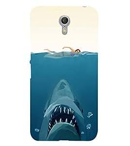 FUSON Underwater Shark Open Mouth 3D Hard Polycarbonate Designer Back Case Cover for Lenovo ZUK Z1