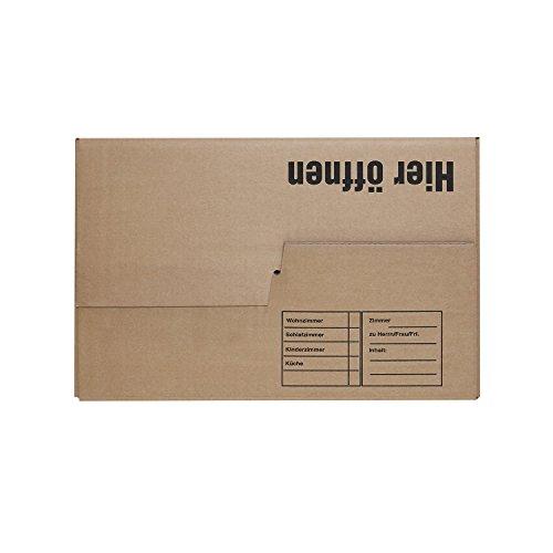 10x Profi Bücherkarton Typ II Kombi 2.04 BC-Welle in braun, nutzen sie den Karton den Profi´s nutzen !!! -