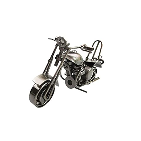 Zhuhaixmy Eisen Motorrad-Modell moderne Ornamente Geburtstagsgeschenk für Freund Fotografie Props