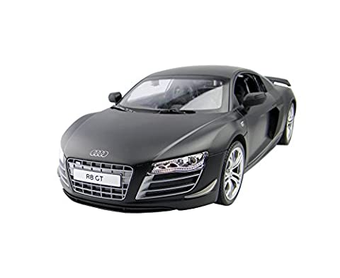 Audi R8 Remote Control Car – Rechargeable Electric Radio Controlled Audi R8 GT RC Car – Working Lights – PL9370 1:14 Official Licensed Audi R8 Model – RTR, EP (Black)