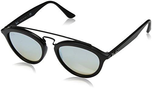 Ray-Ban RAYBAN Damen Sonnenbrille 4257 Matte Black/Mirrorgradientblue, 53