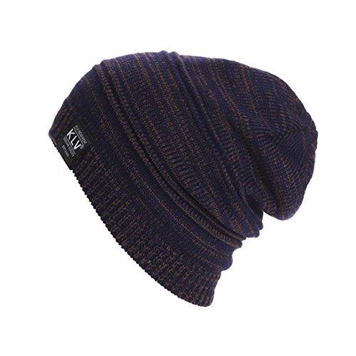 Berretti in Maglia Unisex, Ularma Uomo Donna Unisex Knit rigonfio Beanie inverno Cappello del Pattino Slouchy (Caffè)