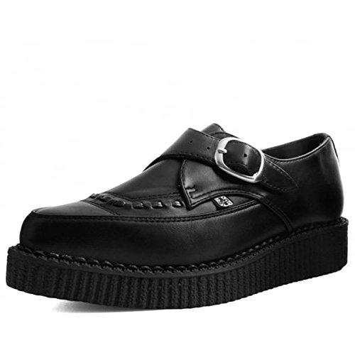 Tukskin T.U.K. Shoes Negro Señaló Enredadera De Hebilla Vegano EU37