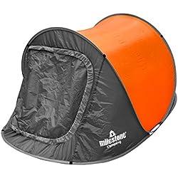 Milestone Camping Tienda instantánea para dos personas Naranja