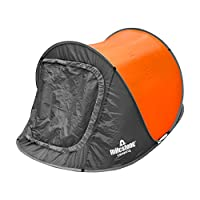 Milestone Camping Two Person Pop Up Tent - Orange 4