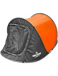 Tienda instantánea para dos personas Milestone Camping - Naranja