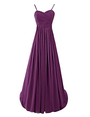Dresstells, Robe de soirée de mariage Robe de demoiselle d'honneur Robe de cérémonie bretelles spaghetti col en coeur traîne moyenne Raisin